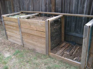 A Three-bin Compost Bin