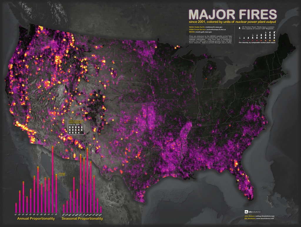 Wildfires The How Do Gardener - Us map forest fires