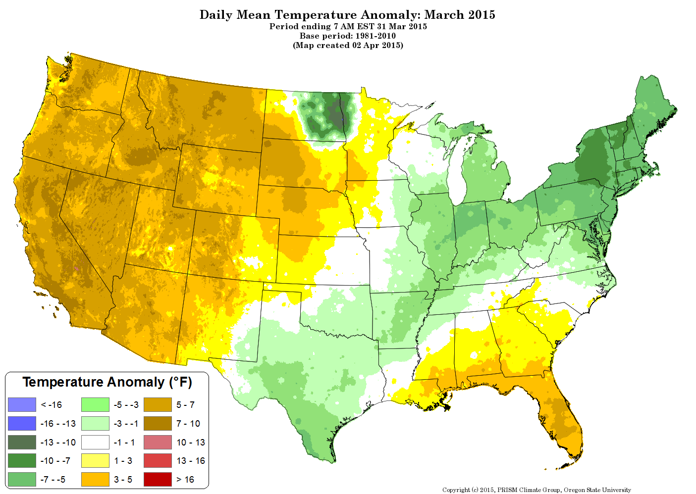 US Climate Report March The How Do Gardener - Us temperature map march