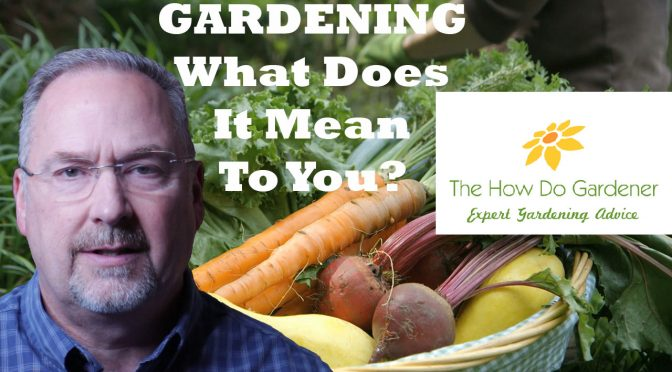 Gardening: What Does It Mean to You?
